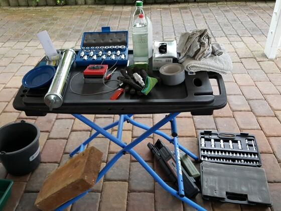 Mobiler Werktisch